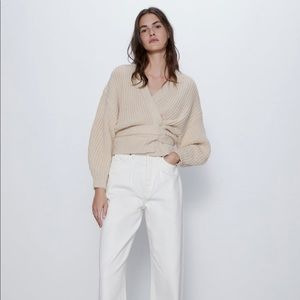 Cropped Belted Cardigan